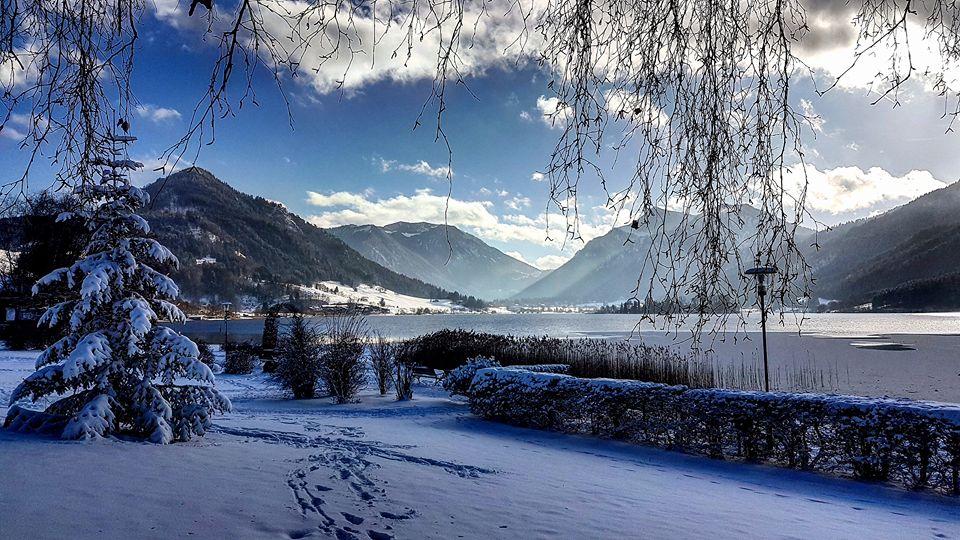 Der Winter kommt zum Schliersee vom Nordwesten