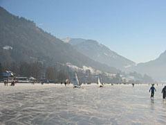Schliersee im Winter mit Eisseglern