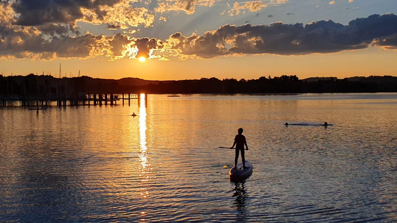 Sonnenuntergang Chiemsee freigegeben für